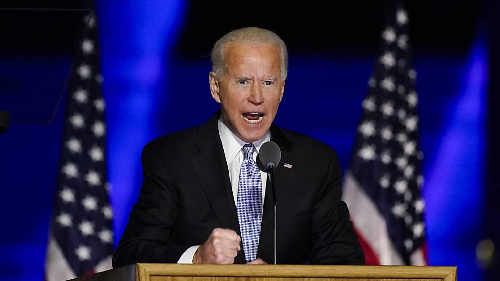 Joe Biden bei einer Ansprache in Wilmington, Delaware. Foto: Andrew Harnik/AP/dpa