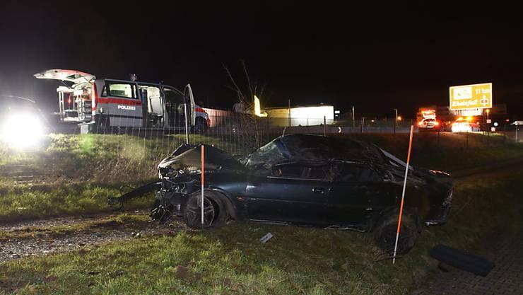 Das Auto kam erst auf einer Wiese zum Stillstand, nachdem es einen Wildzaun durchbrochen hatte.