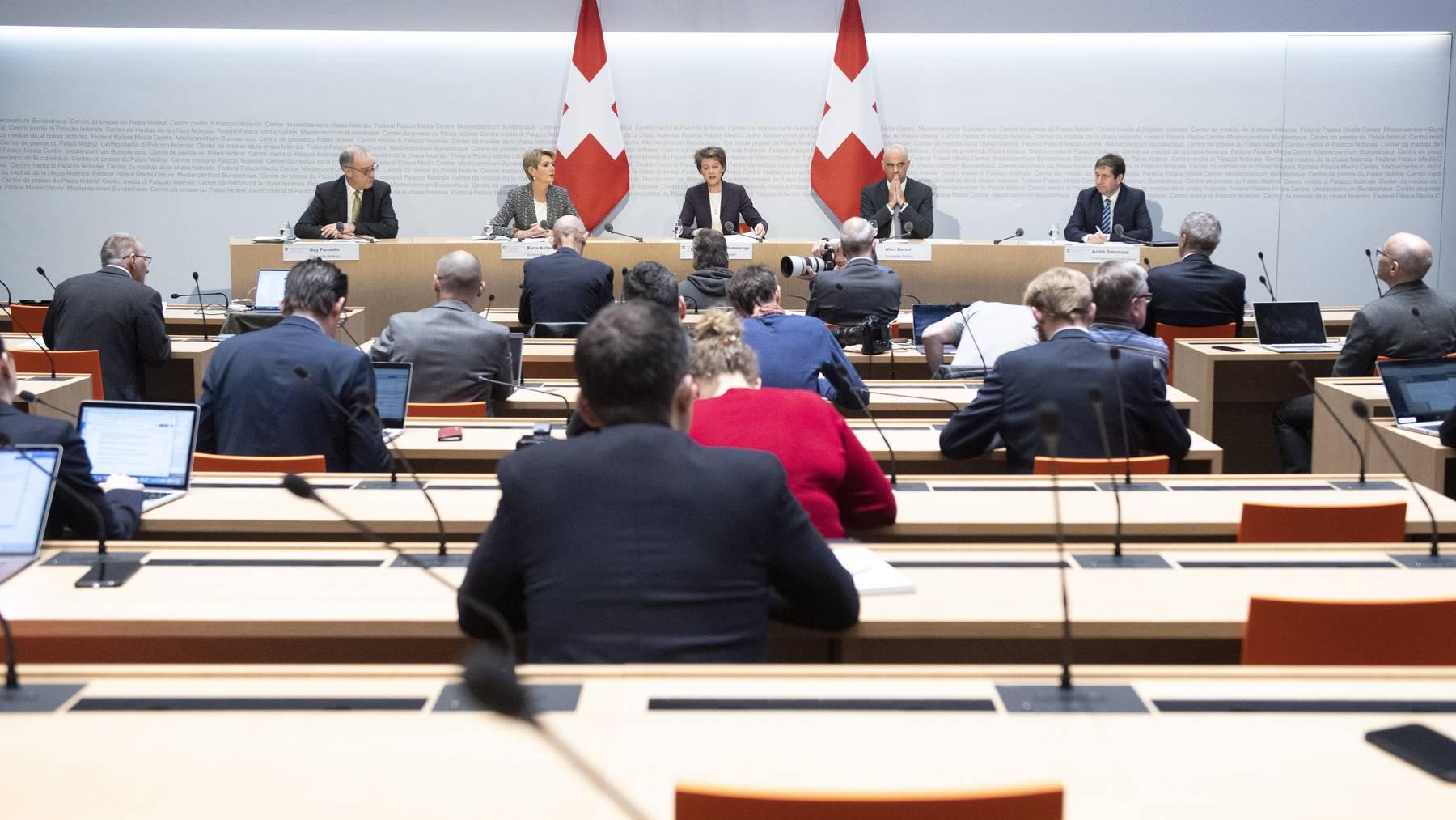 Medienkonferenz vom 13. März 2020
