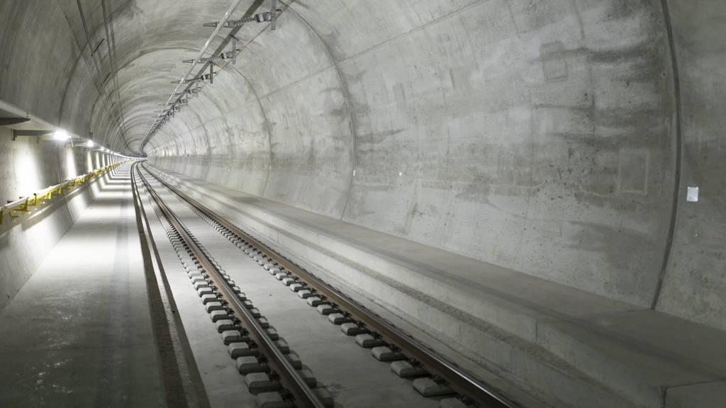 Ceneri-Tunnel wird ab März auf Herz und Nieren geprüft