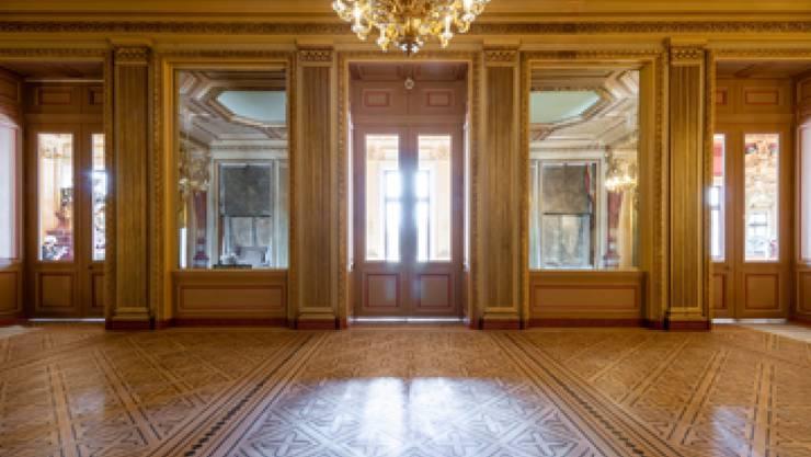 Das Vorfoyer des renovierten Grand Théâtre in Genf ist bereit, die Besucher zu empfangen. Wiedereröffnung ist am 12. Februar 2019.