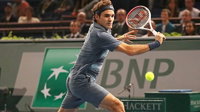 Roger Federer dank Auftaktsieg in Paris für Masters qualifiziert.
