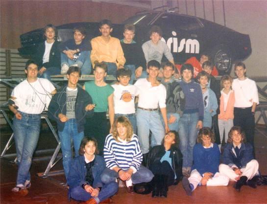 Die Crew der Disco Prism im Jahr 1986.