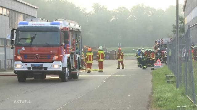 Grossaufgebot der Feuerwehr in Schafisheim