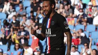 Neymar jubelt in Le Havre - und die Fans hinter ihm zum Teil auch