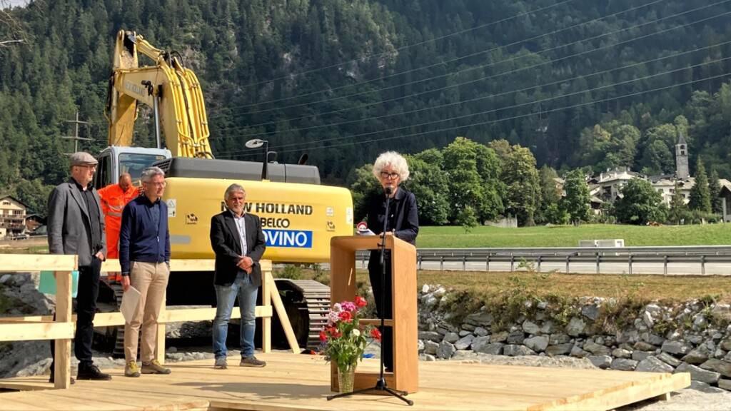 Baustart für Millionen-Schutzprojekt in Bondo nach Bergsturz