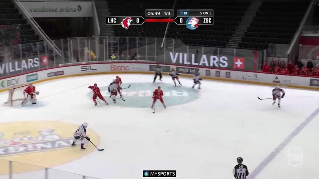Erneuter Sieg für den ZSC: Die Lions gewinnen gegen Lausanne mit 3:0