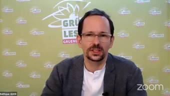 Balthasar Glättli, Präsident der Grünen, an der Online-Delegiertenversammlung vom Samstag.