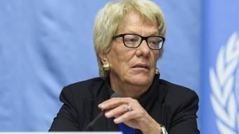 Sieht keinen politischen Rückhalt: Carla del Ponte zieht sich aus der Syrien-Untersuchungskommission der UNO zurück. (Archiv)