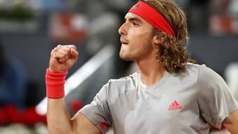 Stefanos Tsitsipas zeigt gegen Rafael Nadal die Siegerfaust