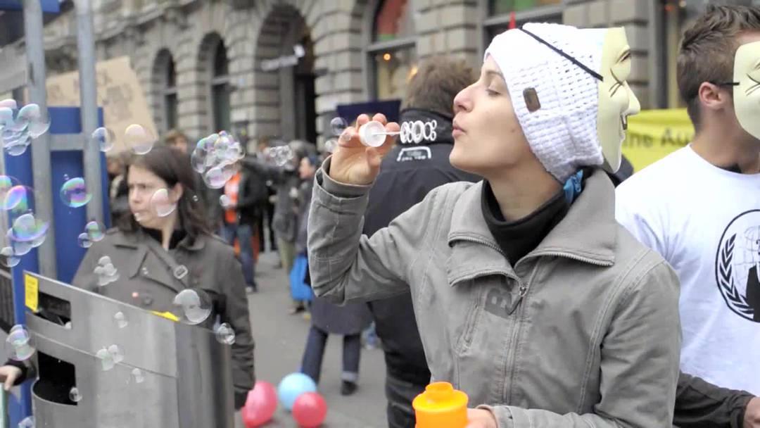 Demo auf Paradeplatz
