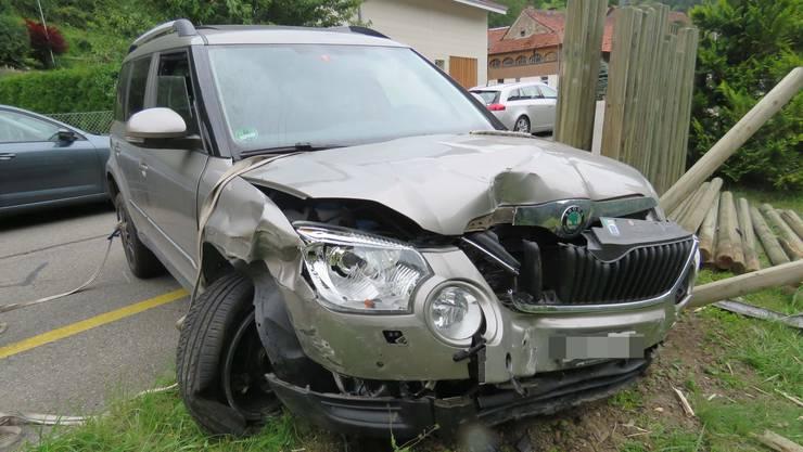 Die 39-jährige Lenkerin dieses Autos nickte auf der Hauptstrasse in Densbüren ein.