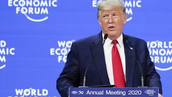 Trumps Rede am WEF erfolgt in gewohnter Manier: Er lobt die USA und empfiehlt der Welt das amerikanische Modell.