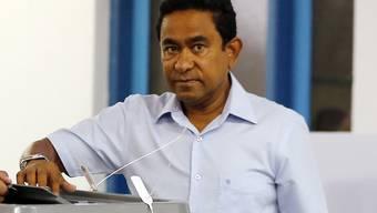 Niederlage für Abdullah Yameen, den Präsidenten der Malediven: Das Oberste Gericht des Inselstaats befand am Sonntag einstimmig, dass es bei der Präsidentschaftswahl im September keine Manipulation gab. Yameen unterlag dem Oppositionskandidat Ibrahim Mohamed Solih. (Archivbild)