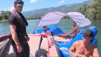 Mit der Polizei auf Aare-Patrouille