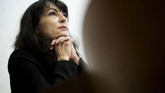 Wirft aufgrund heikler Wahlkampfspenden das Handtuch: Die Waadtländer SP-Ständerätin Géraldine Savary bei der Medienorientierung in Lausanne.