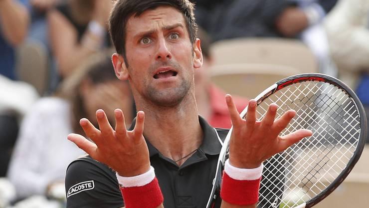 Novak Djokovic ist ratlos, fassungslos und nun auch noch wortlos.