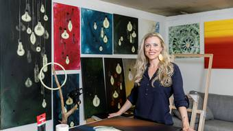 Claudia Zemp setzt bei ihren Werken auf die Stempeltechnik.