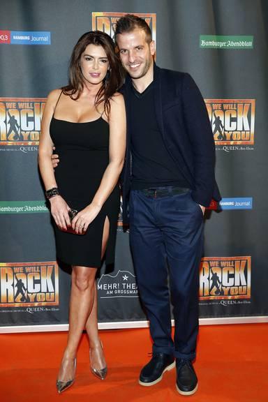 Rafael van der Vaart und Sabia Boulahrouz. (Photo by Oliver Hardt/Getty Images)
