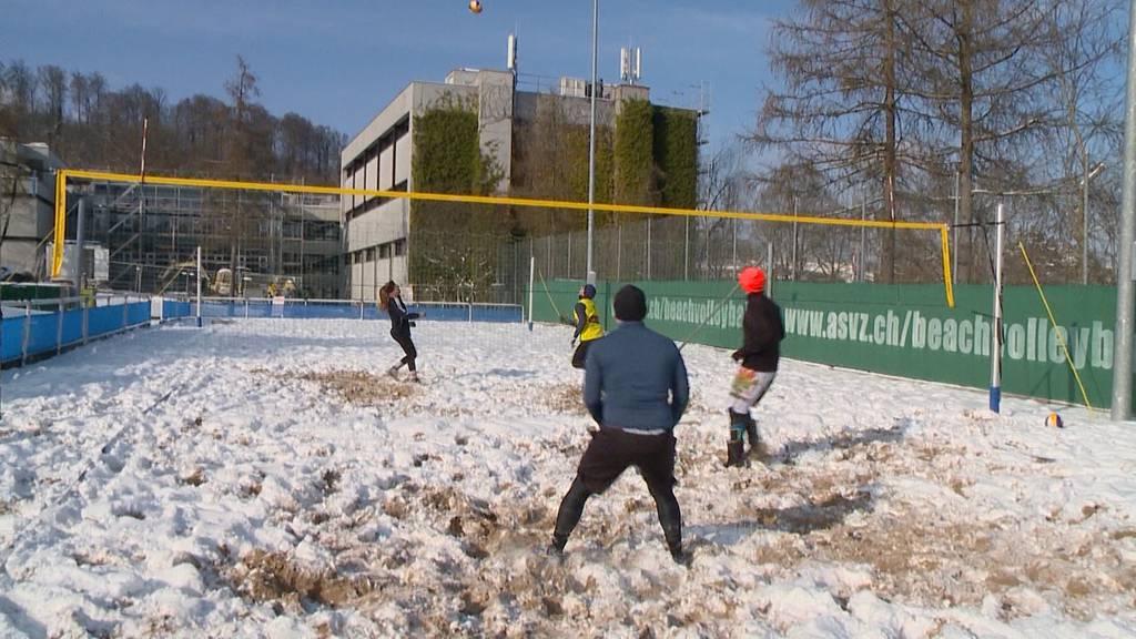 Kalte Temperaturen lassen Zürich erstarren