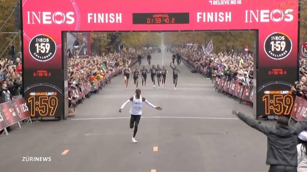 1:59:40 Stunden: Eliud Kipchoge durchbricht Marathon-Schallmauer