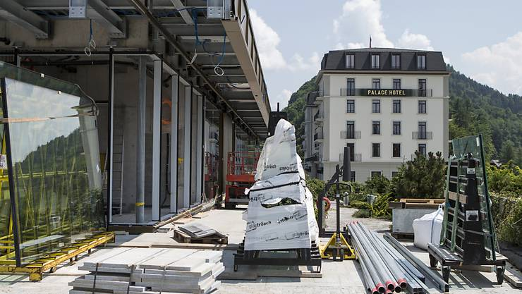 Noch ist nicht ganz alles bereit für die Eröffnung auf dem Bürgenstock: Ein Hotel im Resort wird erst am 14. September eröffnet. (Archivbild)