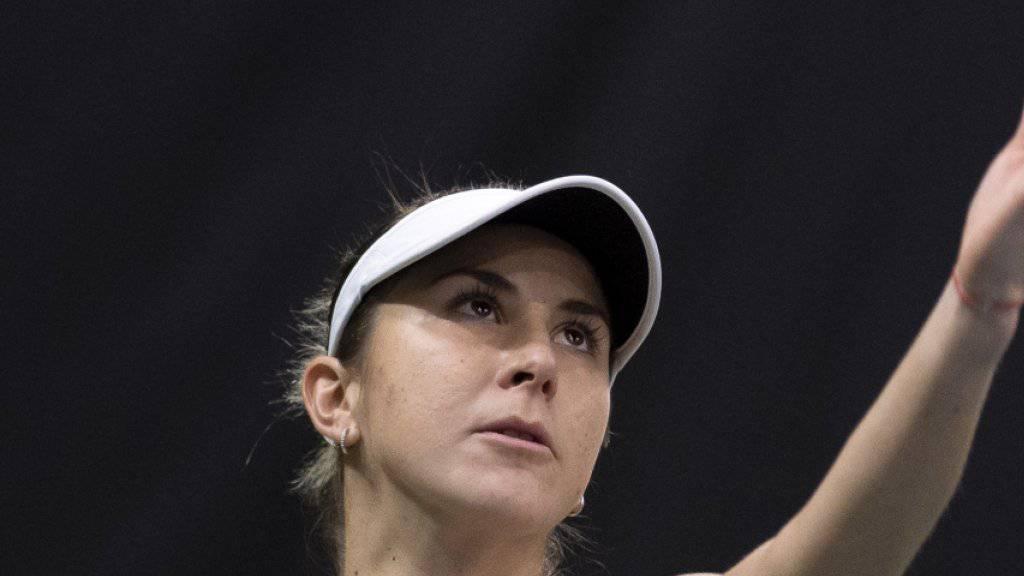 Belinda Bencic steht am WTA-Turnier in Dubai in der 2. Runde