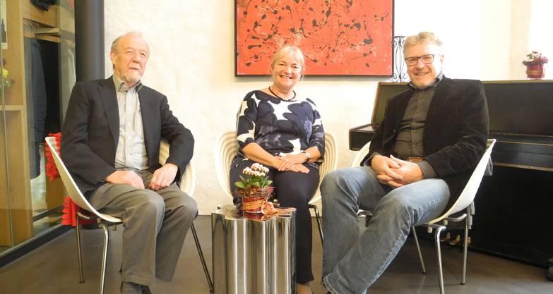 Walter Heutschi, Géraldine Philippe und Peter Bigler (v.l.) sind sich einig.