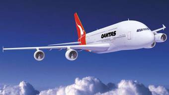 Wieder muss eine Quantas-Maschine zum Flughafen zurückkehren. Hier im Bild die A380.