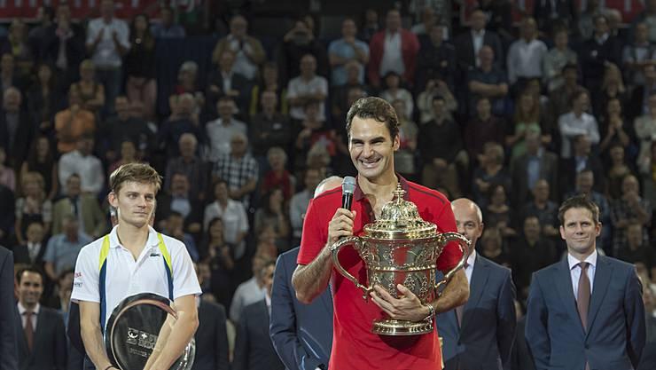 Kann Roger Federer seinen Swiss-Indoors-Titel vom letzten Jahr verteidigen?
