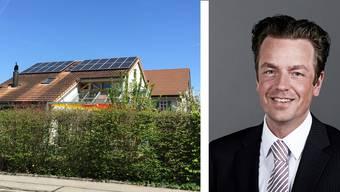 Dank Batterie im Keller könnte der Eigenversorgungsgrad mit Photovoltaikanlagen bis zu 60 Prozent betragen. Rechts: Marc Ritter