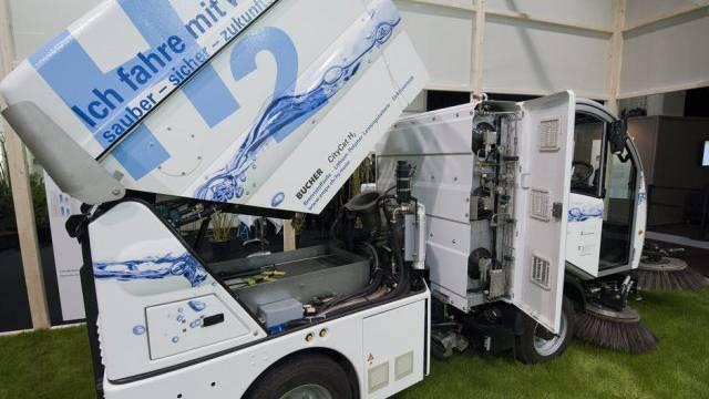 Innovativ: Wasserstoff-Wischmaschine für Gemeinden (Symbolbild)