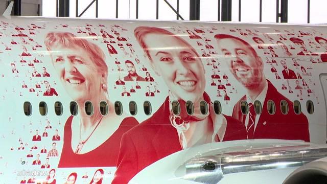 2500 Gesichter zieren Swiss-Flieger