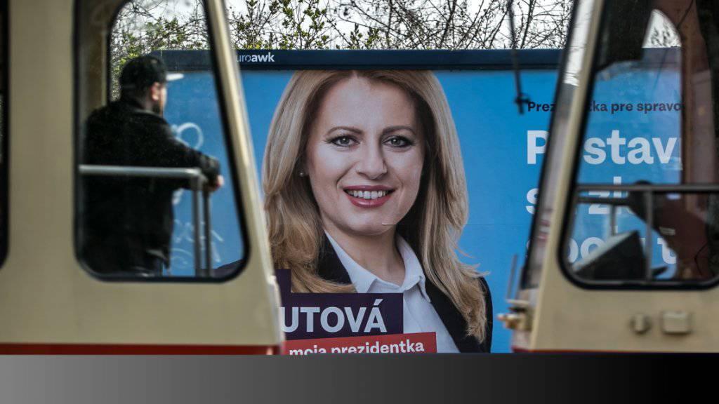 Hoffnungsträgerin in der Slowakei: Die liberale Präsidentschaftskandidatin Zuzana Caputova. (Archivbild)