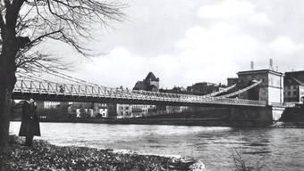 Das Original (1850 bis 1948): Die Kettenbrücke von Jean Gaspard Dollfuss.
