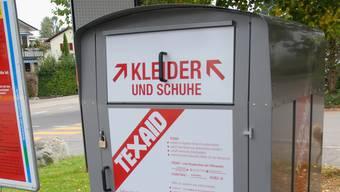 Über 60-mal im Freiamt: Einer der vielen Altkleider-Container.