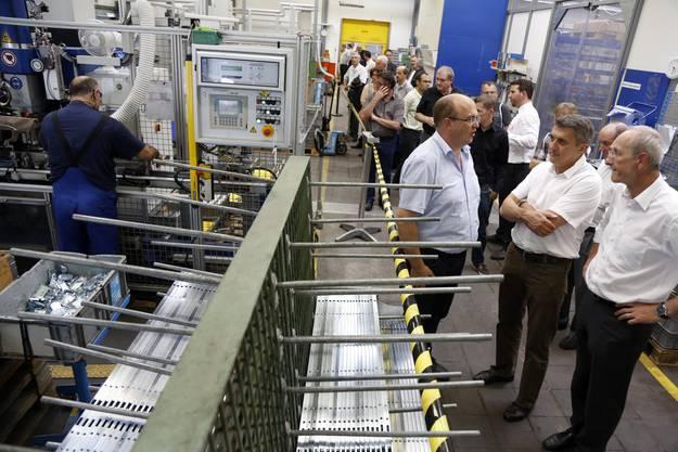 Rundgang durch die Produktionshalle