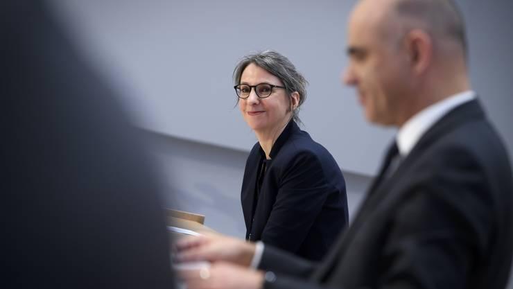 Von den Universitären Psychiatrischen Klinik (UPK) Basel an die Spitze des Bundesamtes für Gesundheit: Anne Lévy und Alain Berset in Bern.