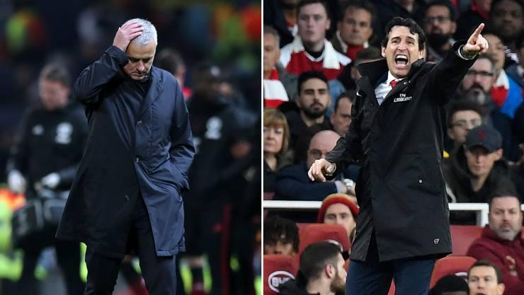 José Mourinho erlebt mit Man United eine schwierige Phase, Unai Emery ist mit Arsenal im Aufschwung.