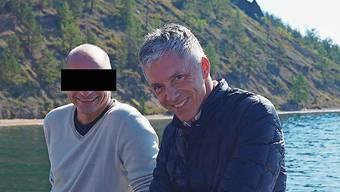 Bundesanwalt Michael Lauber mit seinem Berater auf dem Baikalsee 2014 in Sibirien.