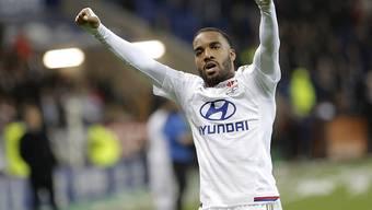 Alexandre Lacazette rettet Lyon mit seinem späten Treffer einen Punkt
