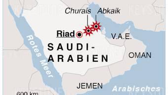 """Nach der Bombardierung wichtiger Ölanlagen in Saudi-Arabien erklärte der saudische König Salman am Dienstag, die """"feigen Angriffe"""" hätten nicht nur auf Ölanlagen des Landes abgezielt, sondern auch auf die internationale Ölversorgung. Sie bedrohten die Stabilität der Region."""