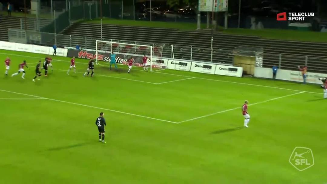 Challenge League: FC Aarau - FC Stade Lausanne-Ouchy, 35. Minute