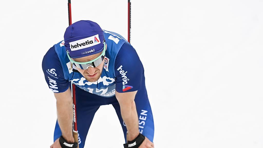Trotz eines starken Rennens blieb Schlussläufer Roman Furger der Exploit verwehrt. Das Schweizer Quartett landet in der 4x10-km-Staffel knapp hinter dem Bronzerang. (Archivaufnahme)