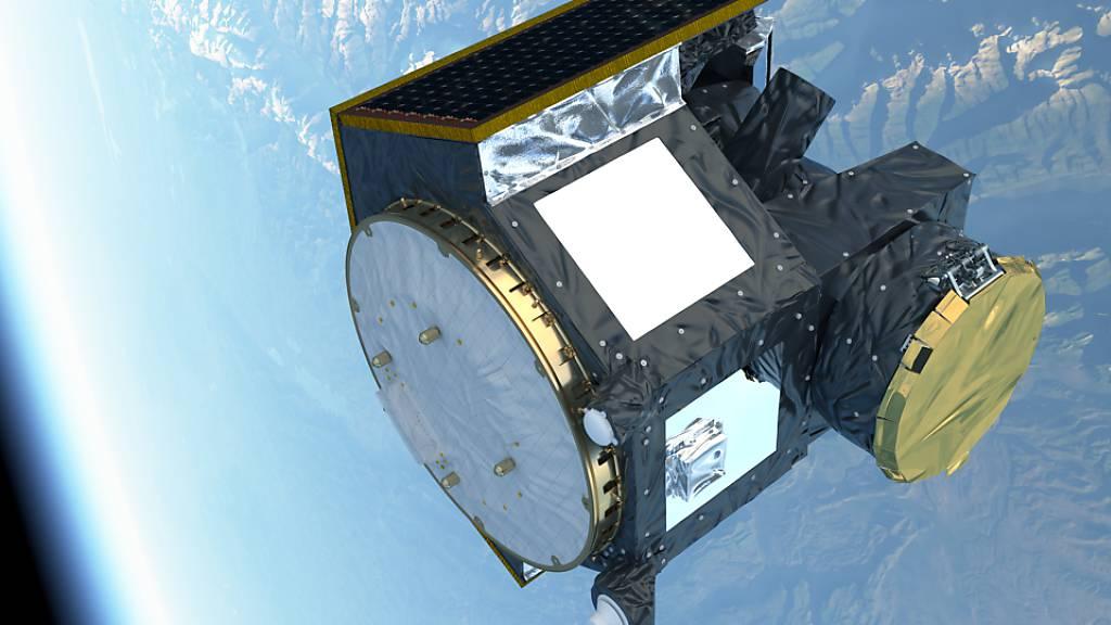 Knapp entkommen: Anfang Oktober entging das Weltraumteleskop Cheops einer Kollision mit einem Trümmerteil eines chinesischen Satelliten.