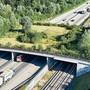 Eine Wildtierbrücke bei Kirchberg BE.