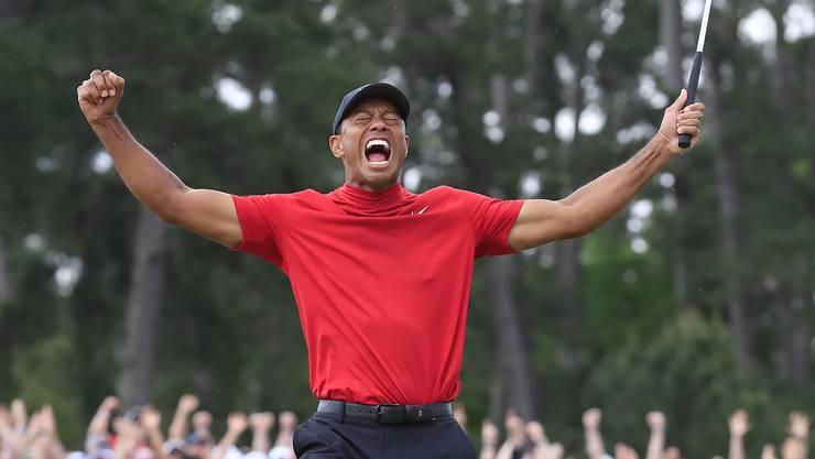 Tiger Woods bei seinem 15. Sieg an einem Major-Turnier.