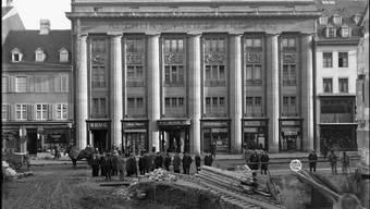 Historische Aufnahme des Variété und Kino Küchlin in der Steinenvorstadt Basel