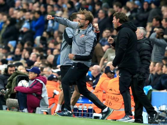 Hier jubelte Jürgen Klopp über den Einzug in die Halbfinals der Champions League.