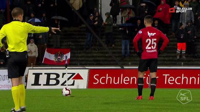 Challenge League 2018/19, Runde 17, FC Aarau - Vaduz (07.12.2018), 1:0 Penalty-Tor Goran Karanovic